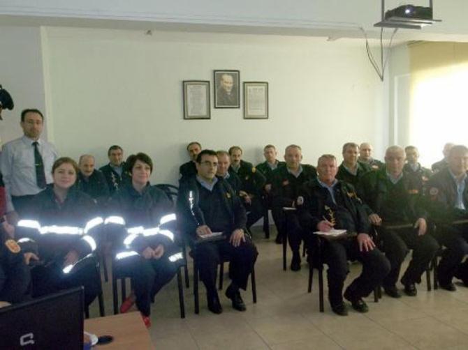 İtfaiye personeline yangını önleme ve mücadele eğitimi